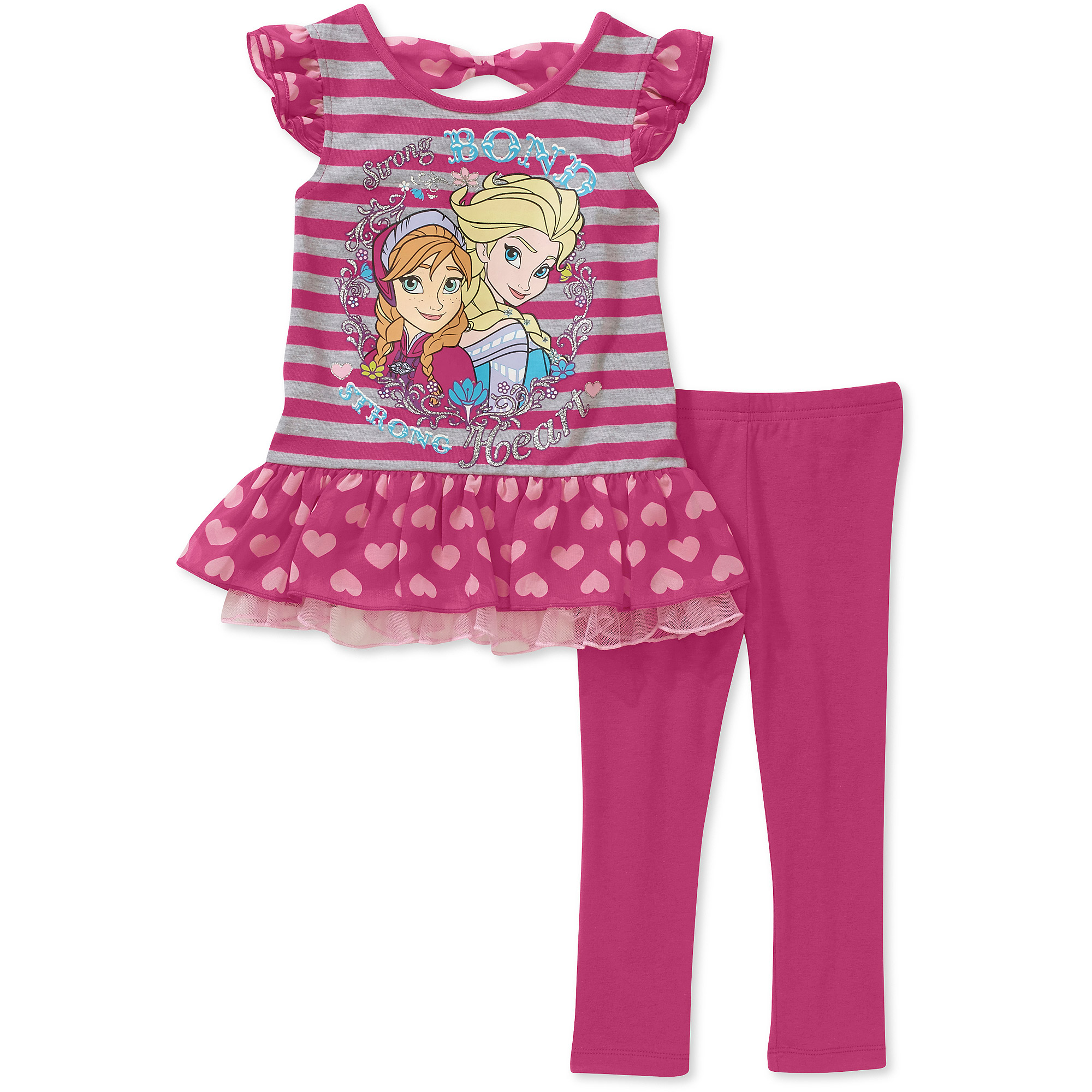 Disney Frozen Toddler Girl Ruffle Tunic and Legging 2 Piece Set