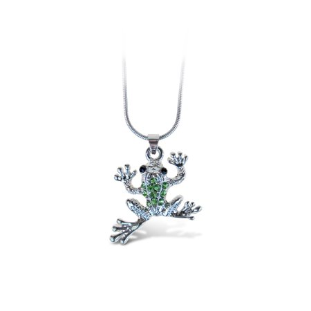 Frog Jewelry - Sparkling Necklace - Frog