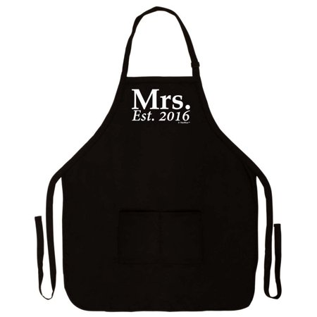 wedding shower gift mrs established 2016 husband and wife funny apron for kitchen bbq barbecue