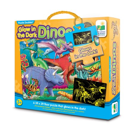 The Learning Journey Puzzle Doubles, Glow In The Dark, Dino (Halloween Puzzles For High School Students)
