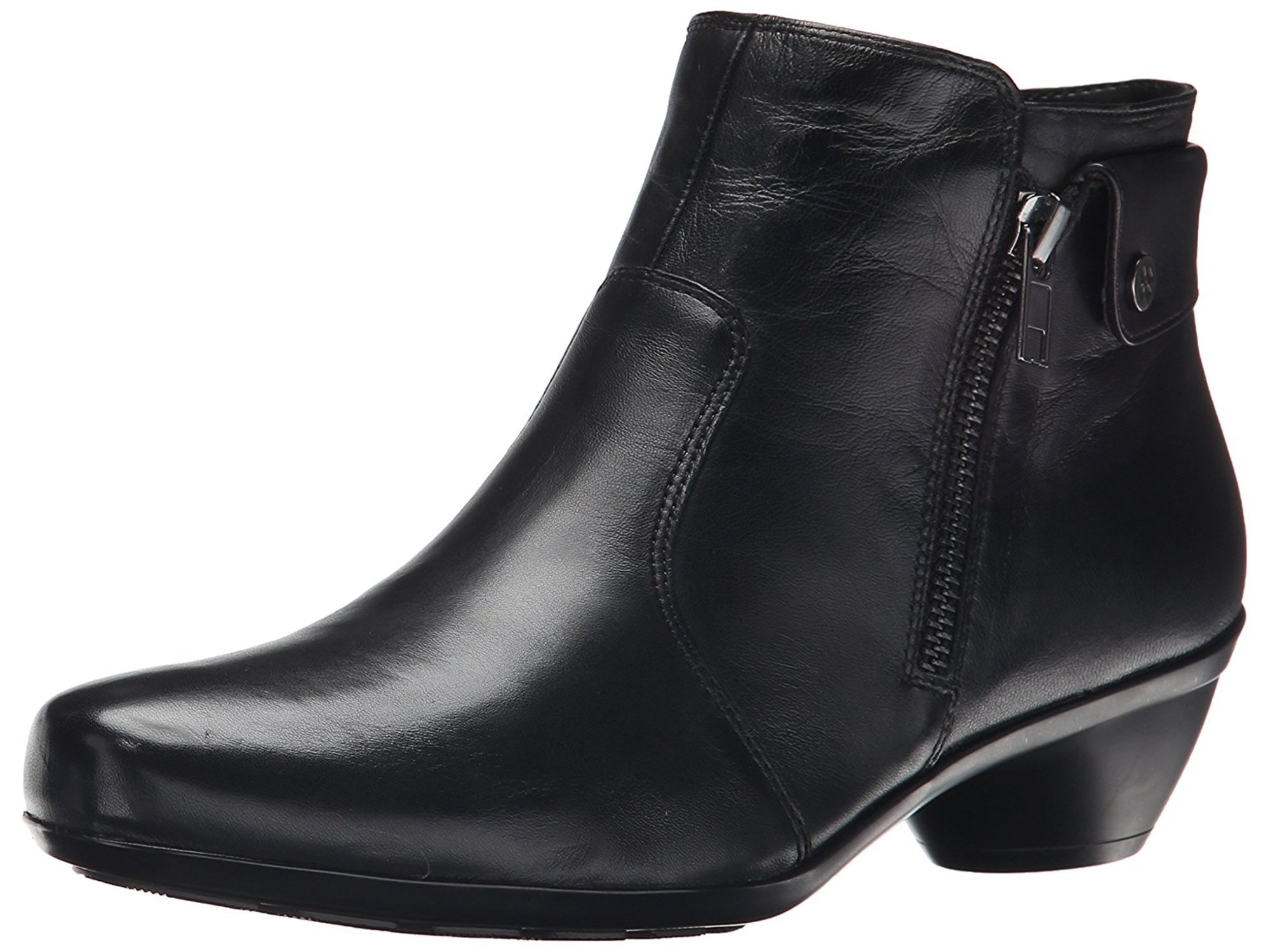 Naturalizer Haley W Round Toe Leather Bootie by Naturalizer
