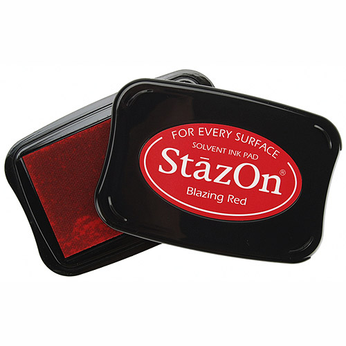 StazOn Solvent Ink Pad Large Blazing Red