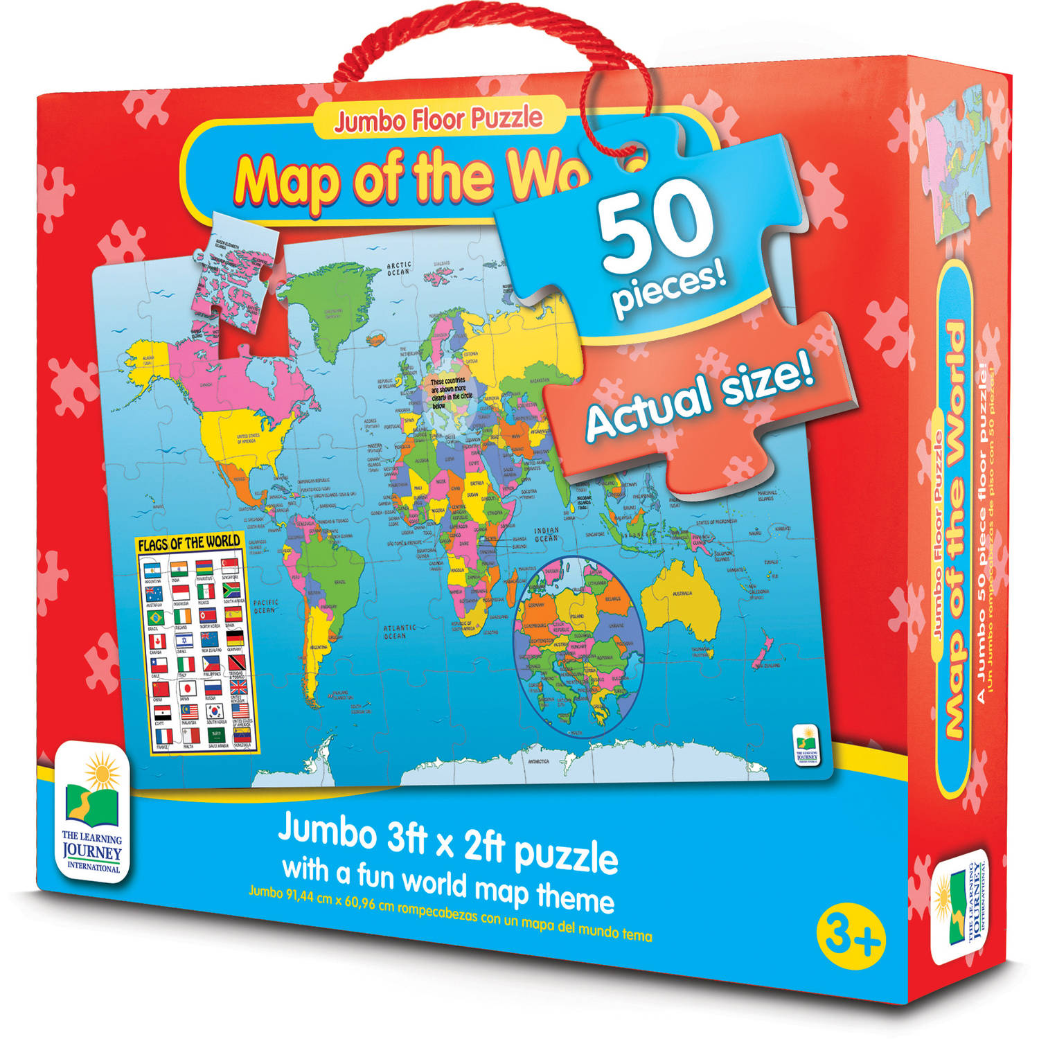Jumbo Floor Puzzles, Map of the World by The Learning Journey
