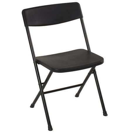 Mainstays Plastic Resin Chair In Black Color Walmart Com