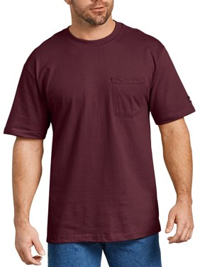 Genuine Dickies Big Men's Short Sleeve Heavy Weight Pocket T-Shirt, 2 Pack