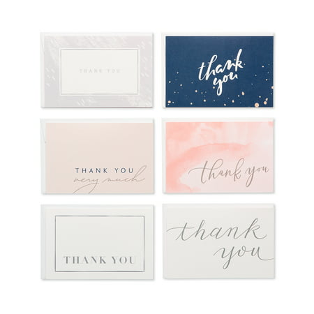 American Greetings Assorted Thank You Greeting Cards, 48ct