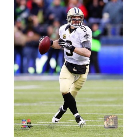 Drew Brees 2013 Playoff Action Photo Print
