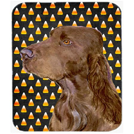 Field Spaniel Candy Corn Halloween Portrait Mouse Pad, Hot Pad or Trivet