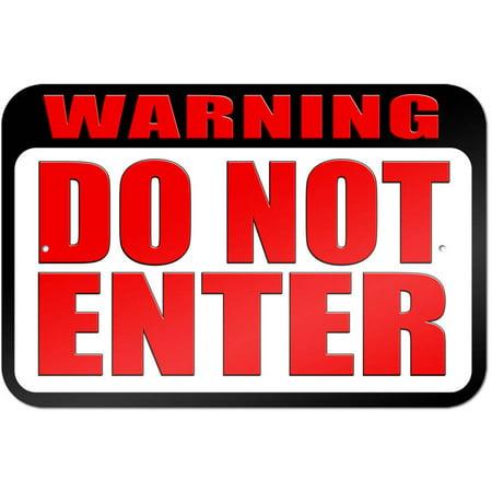 Warning Sign Halloween (Warning Do Not Enter Sign)