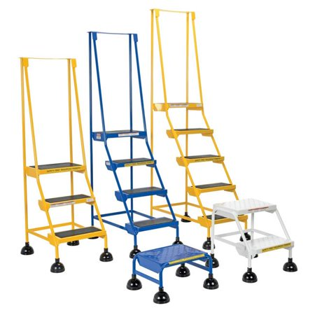 VESTIL LAD-1-W-P Commercial Spring Loaded Rolling Ladder