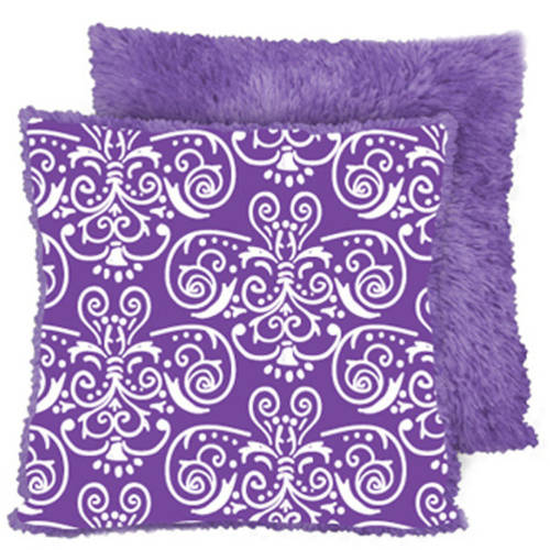 Your Zone Faux Fur Reverse to Print Pillow
