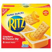RITZ Handi-Snacks Crackers and Cheese Dip, 6 - 0.95 oz Packs