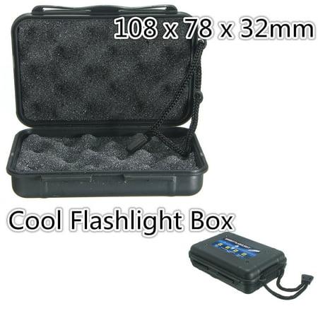 Black Plastic Flashlight Torch Tool Storage Case Box Insurance Outdoor Engineer - image 1 de 1