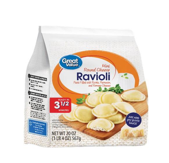 Great Value Mini Round Cheese Ravioli, 20 oz