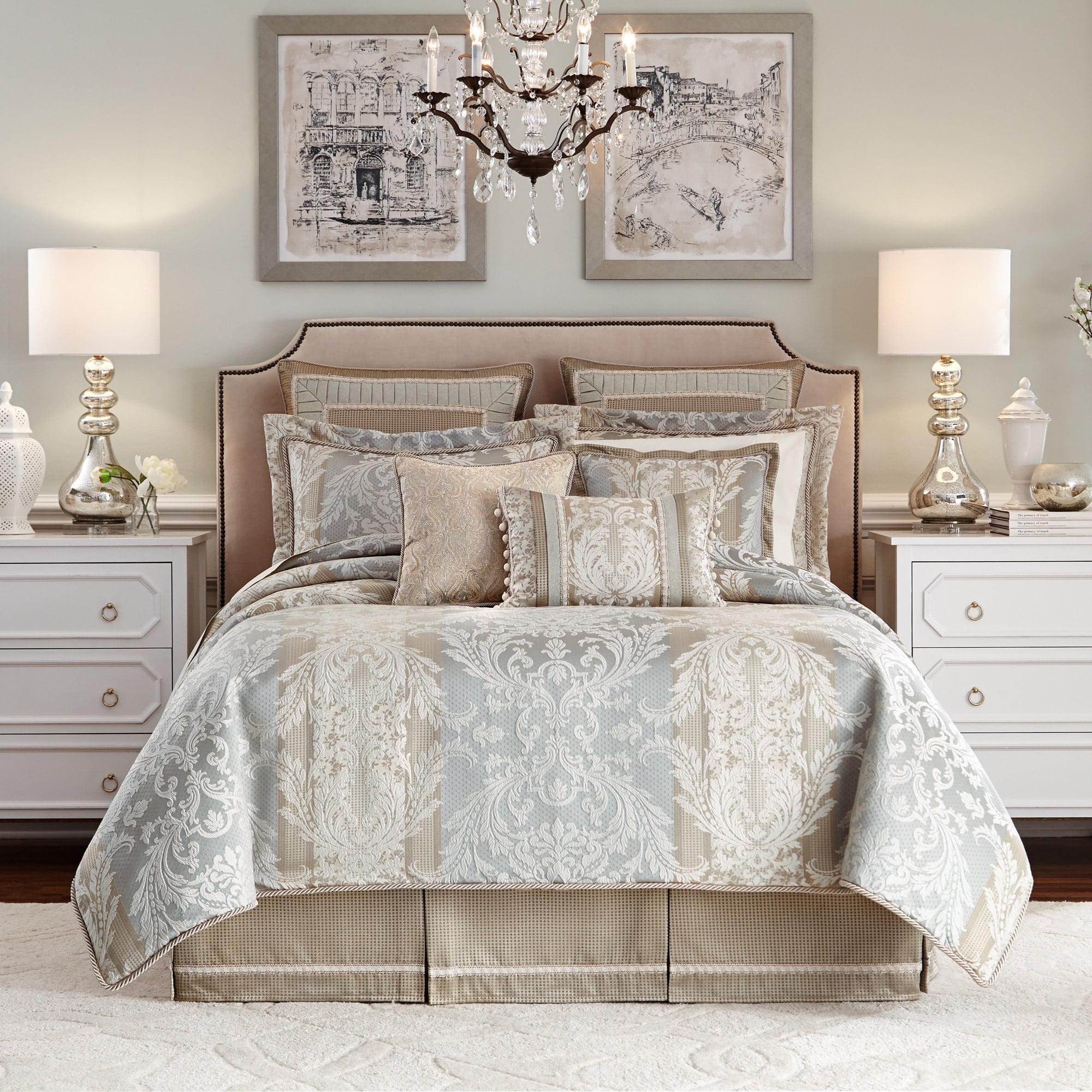 gold bedding product xxx medallion set comforter do croscill bed ava king reversible