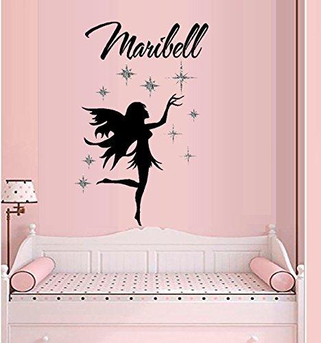 Decal glitter star fairy custom name 1 wall decal 20