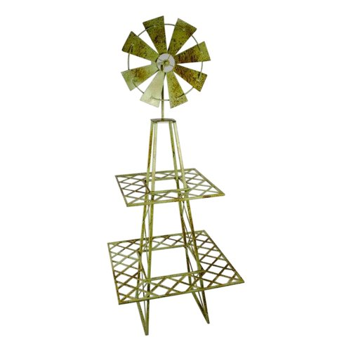 Sagebrook Home 2 Tier Metal Windmill Plant Stand by