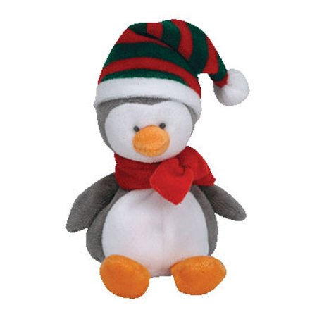 TY Jingle Beanie Baby - ICICLES the Penguin (5 inch) Rare! (Icicle Stuffed Animal)