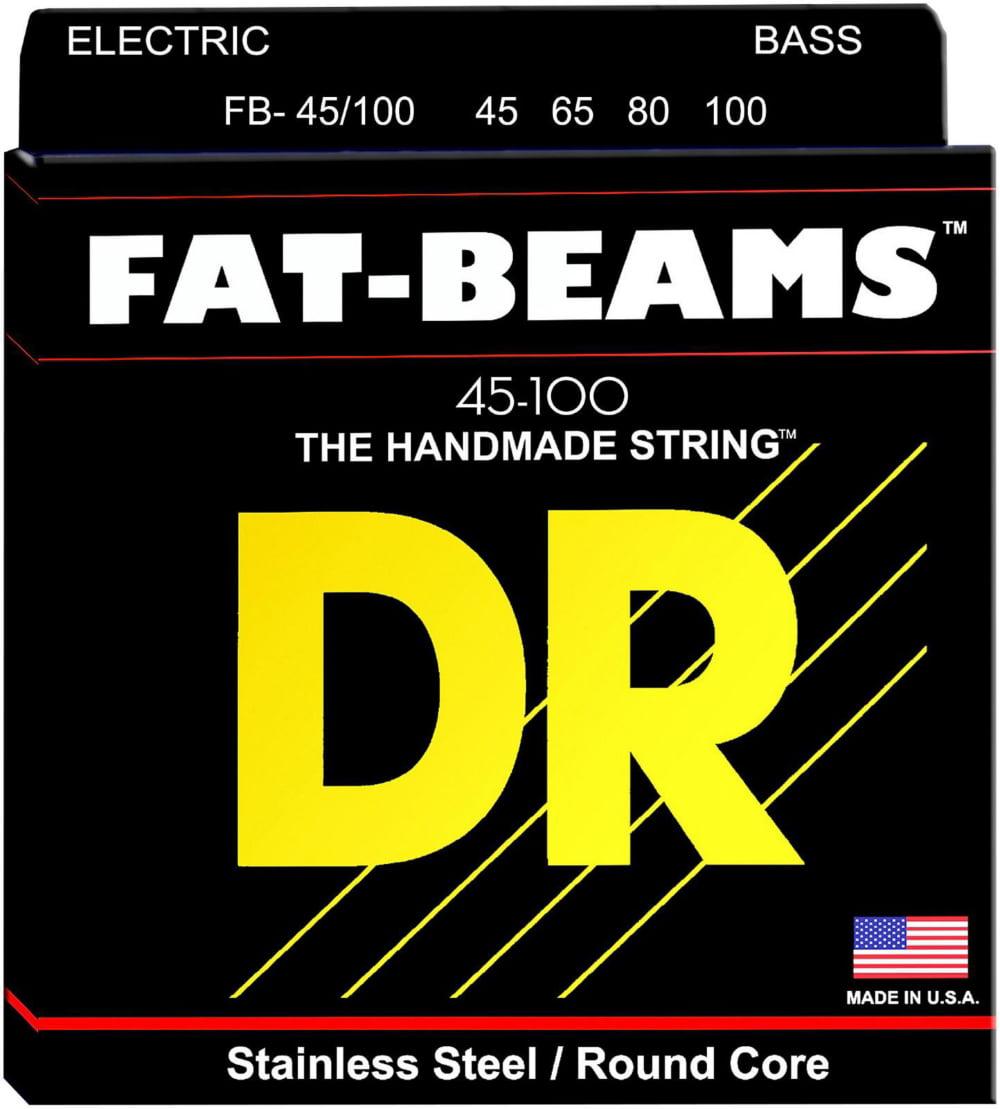 DR Strings Fat-Beams Stainless Steel Medium-Lite 4-String Bass Strings (45-100) by DR Strings