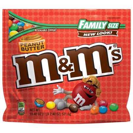 M&Ms Peanut Butter Family Size Chocolate Candies - 18.4oz