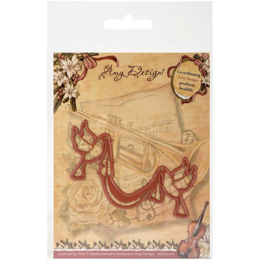 Find It Trading Amy Design Vintage Christmas Die, Doves with Sash