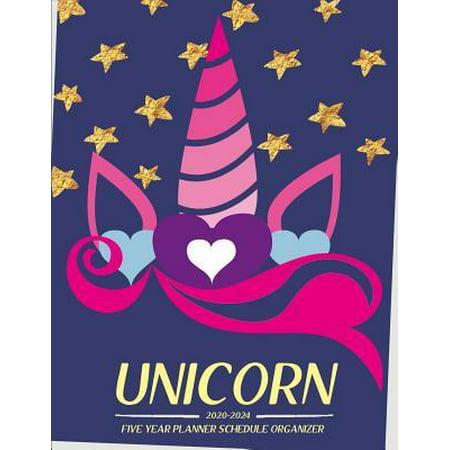 unicorn 2020-2024 five year planner Schedule Organizer: Monthly Schedule Organizer - Agenda Planner For The Next Five Years 60 months Paperback