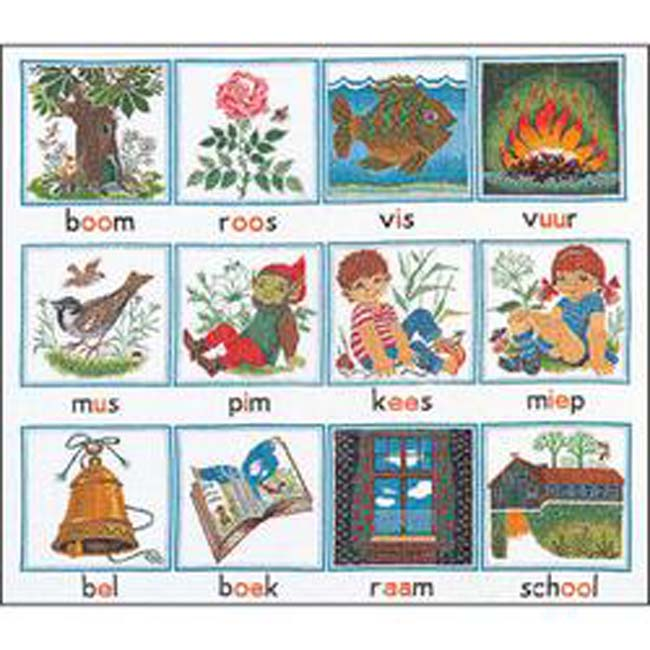 """Thea Gouverneur Counted Cross Stitch Kit 23.5""""X27.5""""-Alphabet On Aida (18 Count)"""