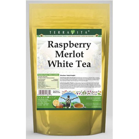 Raspberry Merlot White Tea (50 tea bags, ZIN: 541986) - 3-Pack