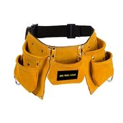 Brown Suede Leather Pretend Play Tool Belt With Adjustable Strap for Kids by ...