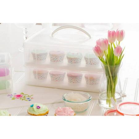 Snapware Snap n' Stack 2-Layer Cupcake Carrier (Cupcake Caddy)