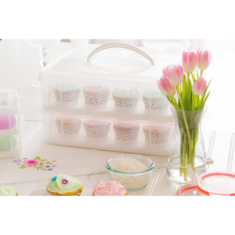 Snapware Snap n' Stack 2-Layer Cupcake Carrier
