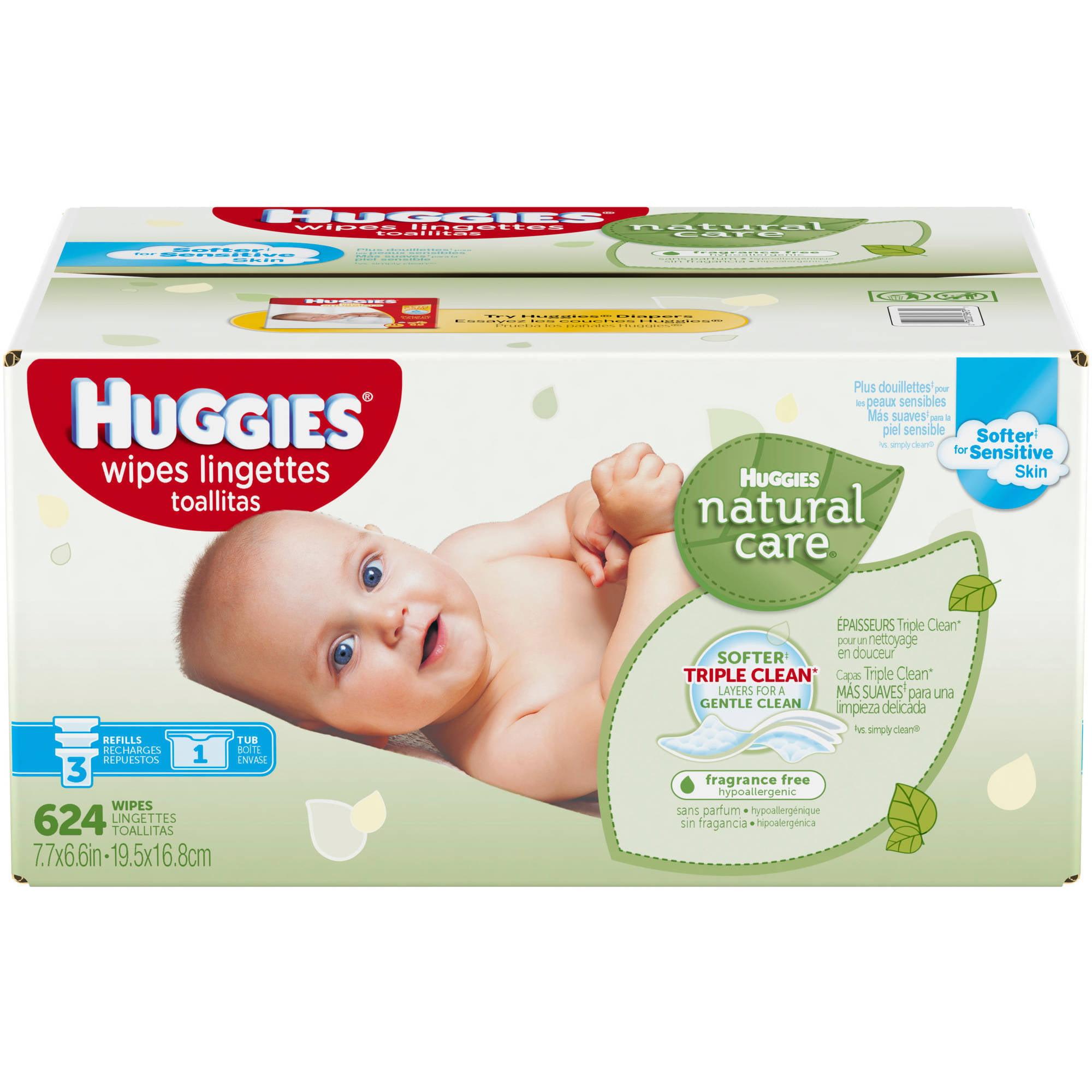 Huggies Natural Care 624 Wipes