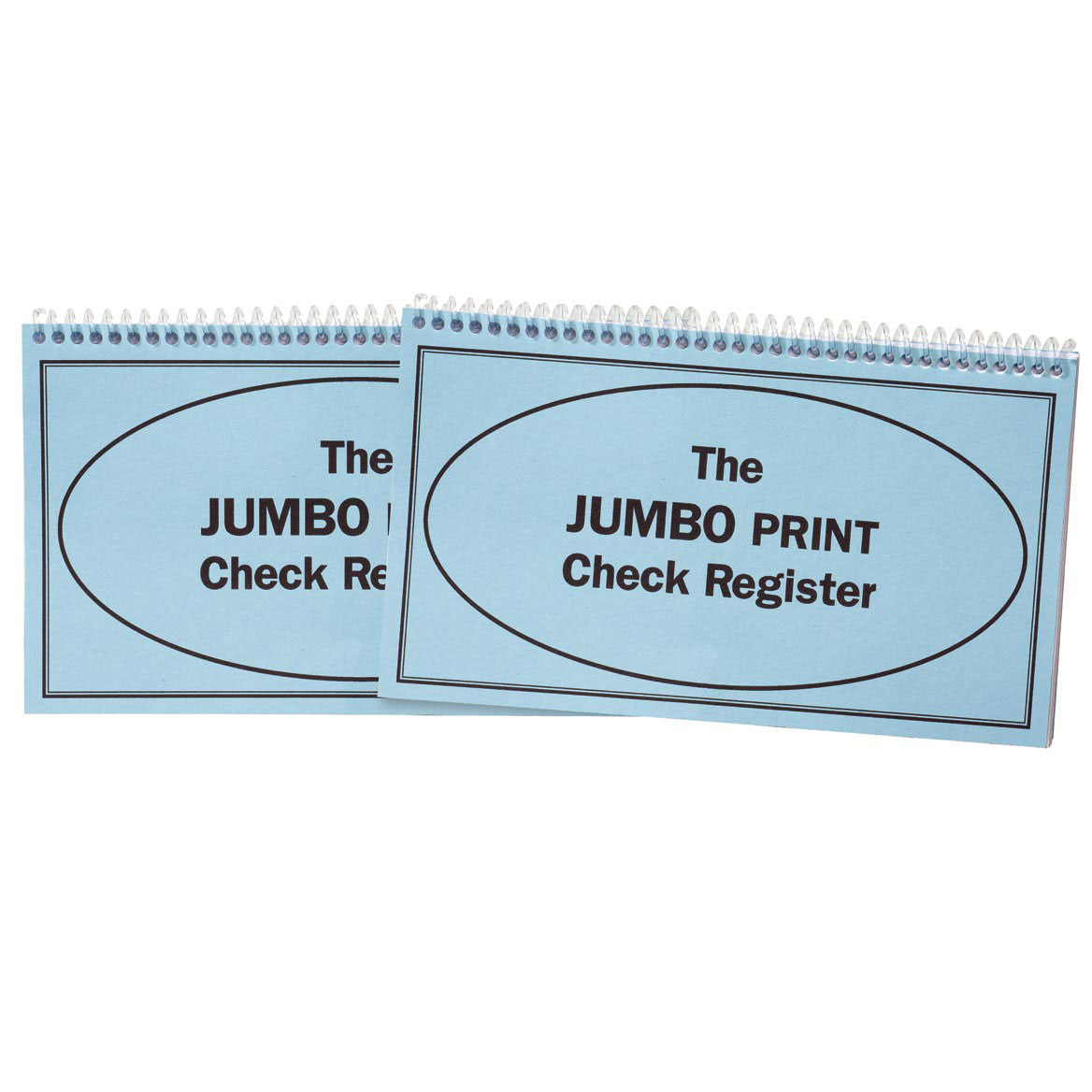 Giant Print Check Register, Set of 2 by Miles Kimball