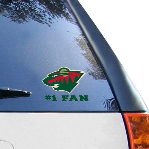 """Minnesota Wild WinCraft #1 Fan 3"""" x 4"""" Decal - No Size"""