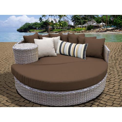 TK Classics Oasis Outdoor Wicker Sun Bed