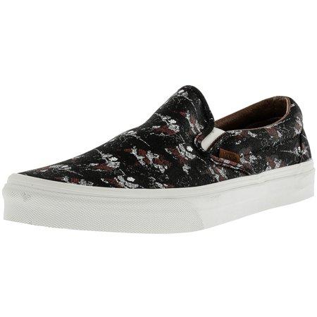 51293b8921 Vans - Vans Men s Classic Slip-On Samurai Warrior Black Ankle-High Canvas  Skateboarding Shoe - 11M - Walmart.com