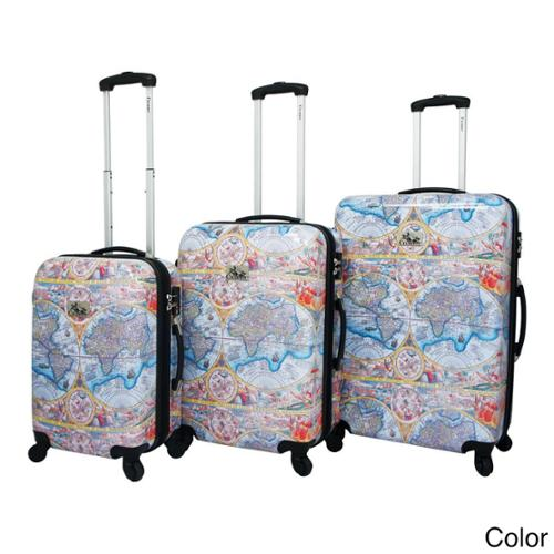 One World 3-Piece Hardside Lightweight Expandable Upright Spinner Luggage Set Color