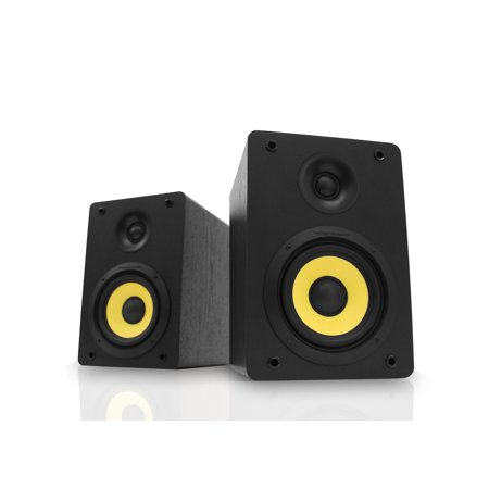 Integrated Bluetooth (Thonet and Vander Kurbis BT Bluetooth Bookshelf Speakers, Integrated Amp delivers 340 W Peak Power )