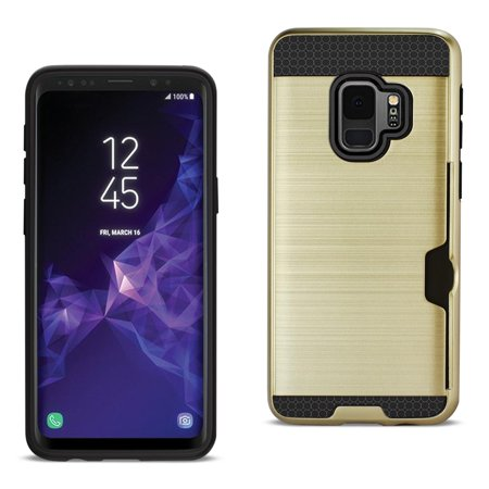 Reiko Samsung Galaxy S9 Slim Armor Hybrid Case With Card Holder In Gold - image 1 of 1