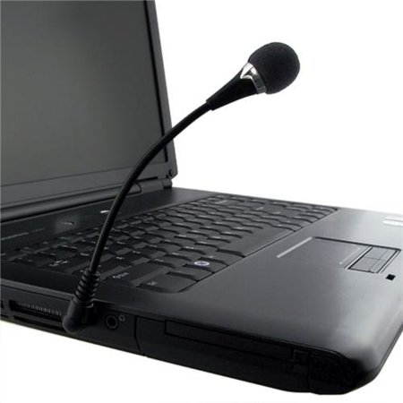 Insten 2 Pcs Flexible Black Mini Microphone Mic For PC Laptop Notebook MAC WhatsApp Internet Call VOIP SKYPE QQ - Bundle