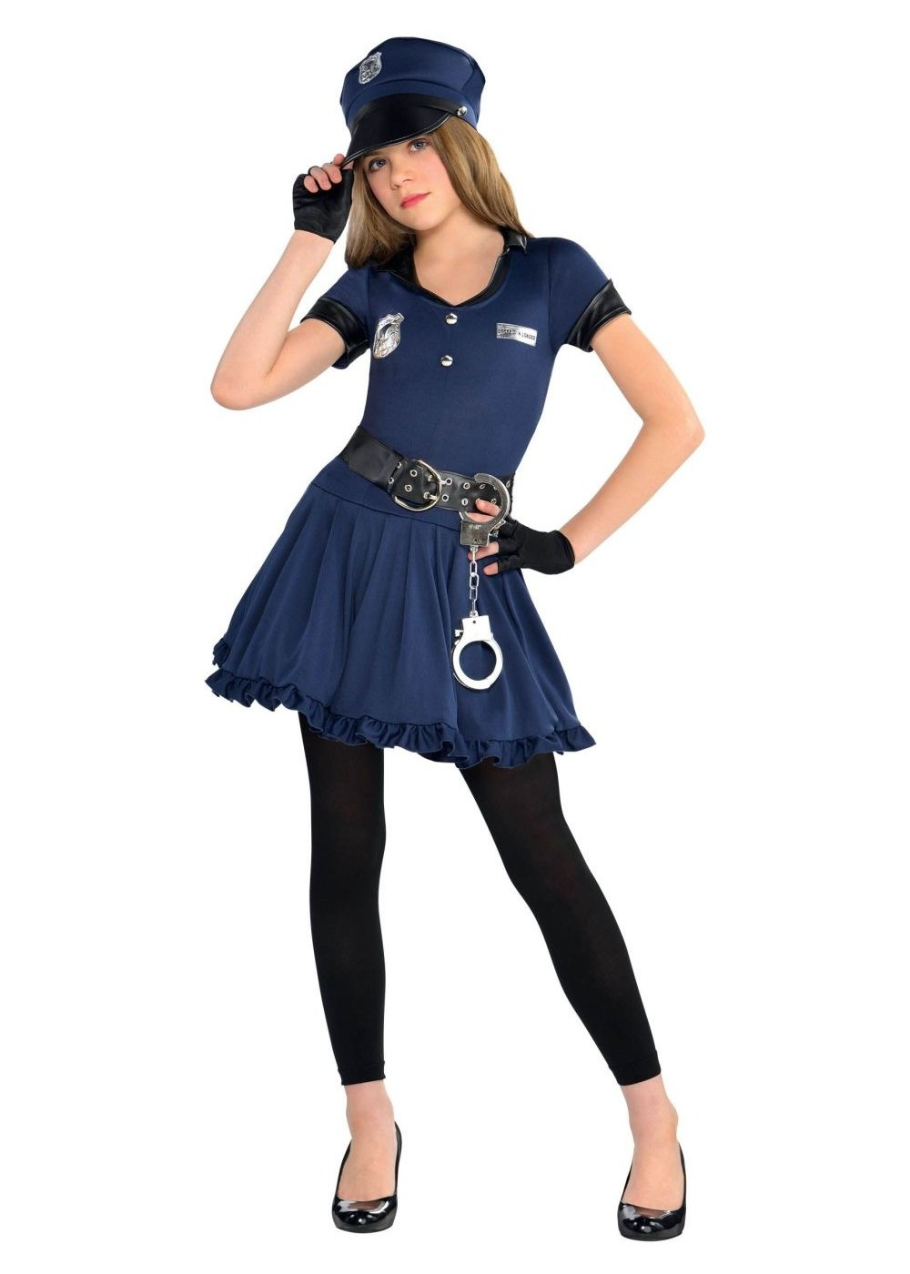 sc 1 st  Walmart & Cop Cutie Police Officer Girls Costume - Walmart.com
