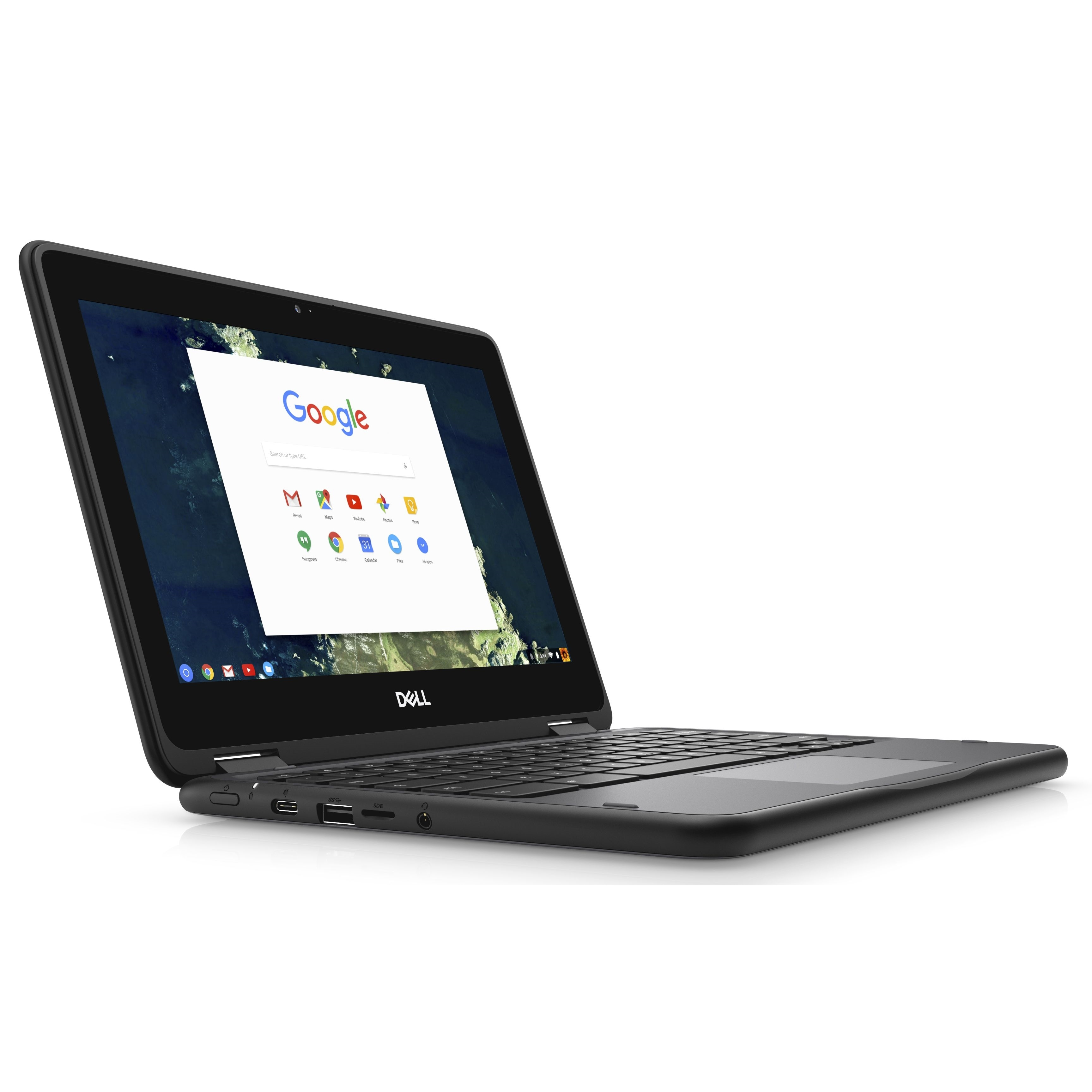 "Dell Chromebook 11 5190 Intel Celeron N3350 X2 1.1GHz 4GB 16GB 11.6"", Black (Scratch And Dent Refurbished)"