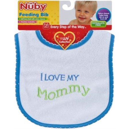 Lnc I Love Bib, PartNo 145 [6CT], by Luv 'N Care, Baby Goods, Baby & Toddler Bib