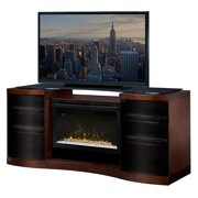 """Dimplex Acton Media Console Electric Fireplace With Logs for TVs up to 60"""", Walnut"""