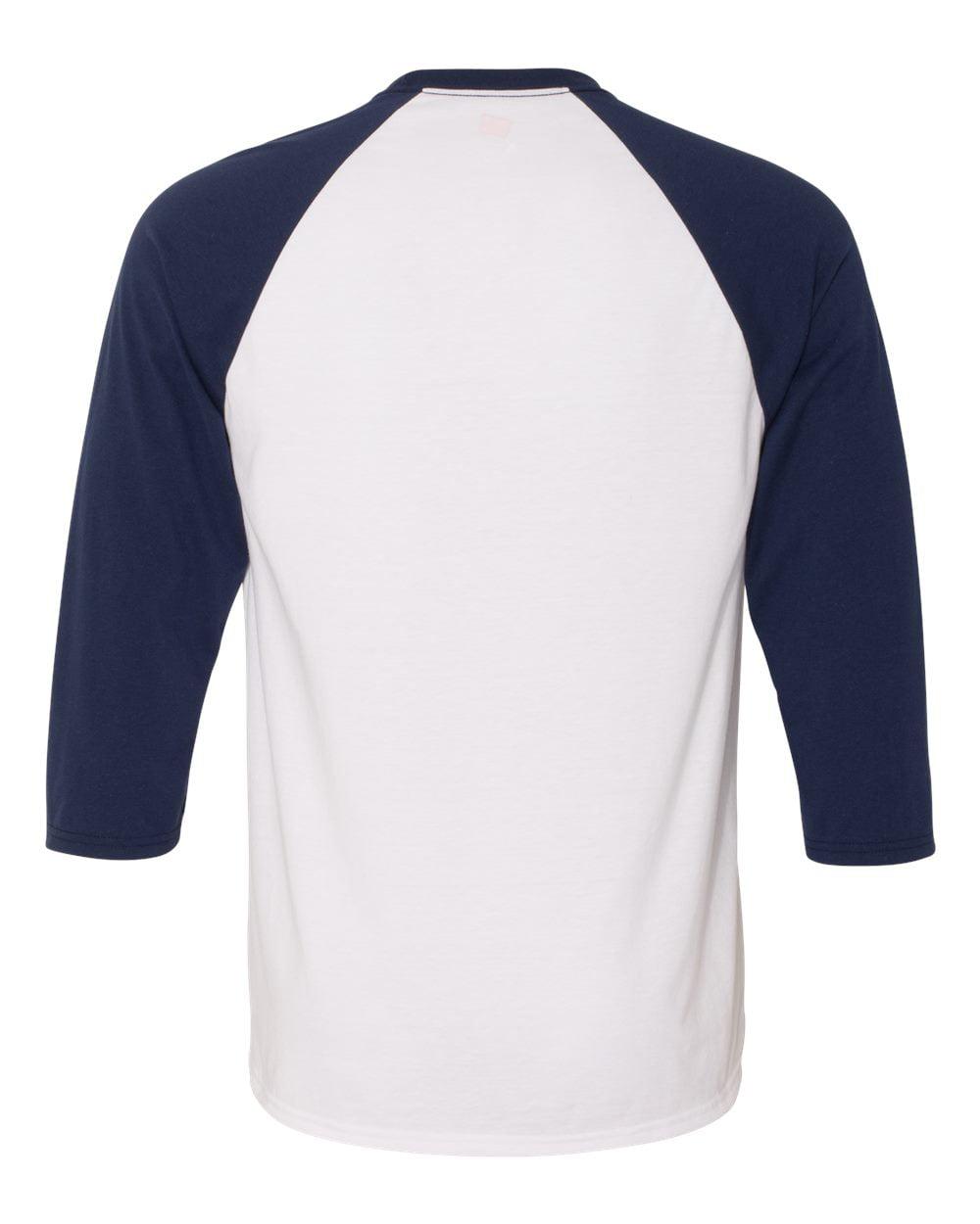 Hanes - X-Temp 3/4 Sleeve Baseball T Shirt - Walmart.com