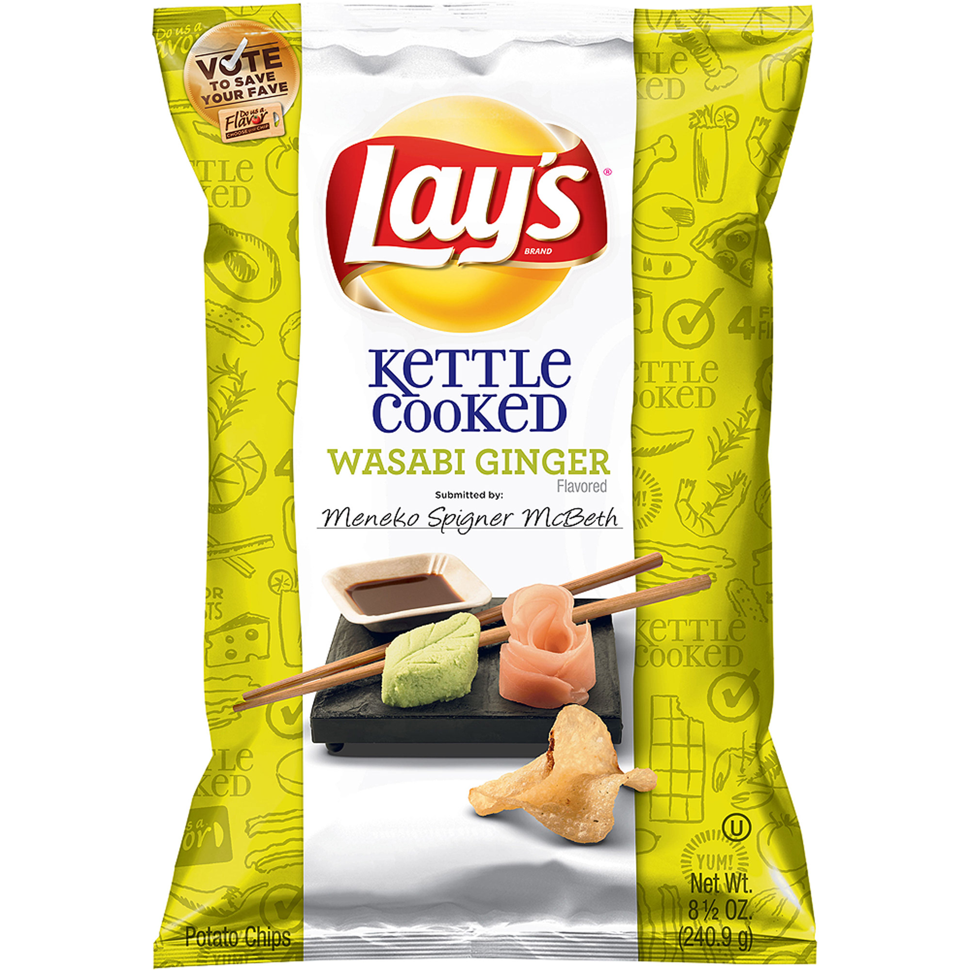 Lay S Kettle Cooked Wasabi Ginger Flavored Potato Chips 8