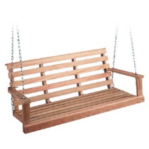 Beecham Swing Co. Flatbottom Oak Porch Swing