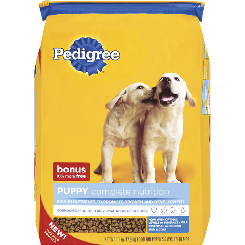 Pedigree Complete Nutrition Puppy-Sized Crunchy Bites, 17.9 lb