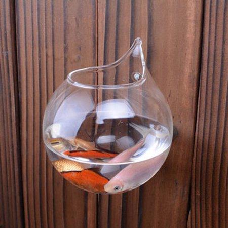 Creative Transparent Borosilicate Glass Wall Hanging Fish Tank Clear Vase - image 4 de 8