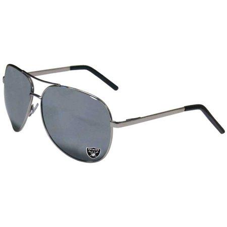 NFL Oakland Raiders Aviator Sunglasses by